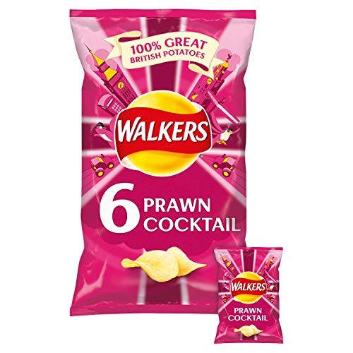 Walkers Prawn Cocktail Crisps 6 X 25G by Walkers