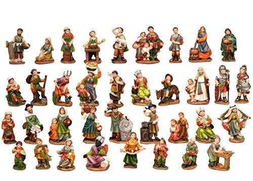 Set 36figuras de Belén de resina de 7cm de Paben
