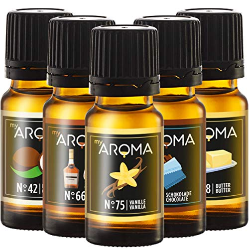 myAROMA - Set: Backstube - rein natürliches Aroma zum Kochen & Backen (5x 10ml)