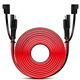 Nilight 50037R 12FT Cable DC Extension Cord 16AWG 2 Pin Wire Harness with 12V-24V Quick Connect/Disconnect SAE Connector with Dust Cap, 2 Years Warranty