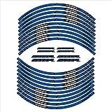 Etiqueta de decoración de la decoración de la Muestra del neumático de la Motocicleta calcomanías Reflectantes del Borde Interior para BMW S1000R (Color : 4)