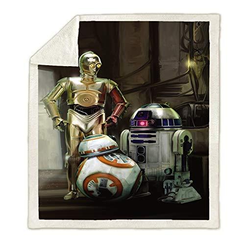 WTTING Star Wars - Manta de franela de dibujo animado, diseño de impresión digital 3D, para niños y adultos (Q,150 x 200 cm)