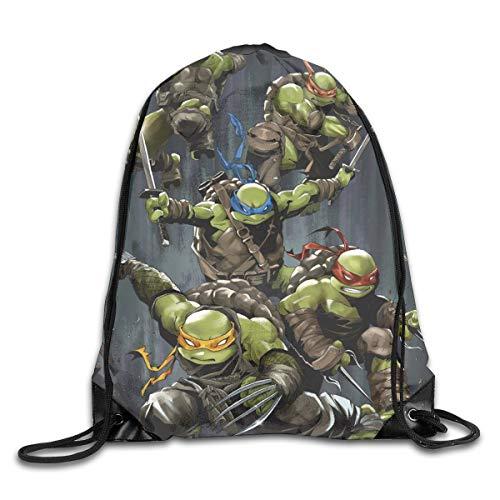KANKANHAHA Teenage Mutant Ninja Turtles Rucksack mit Kordelzug