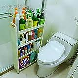 Zfggd Sofá cubículo del baño Cocina for Guardar Gap Perchero de pie móvil Rack Estante de liquidación Espacial