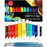 Peinture acrylique 12 set Crafts 4 All pour papier, toile, bois, céramique, tissus...