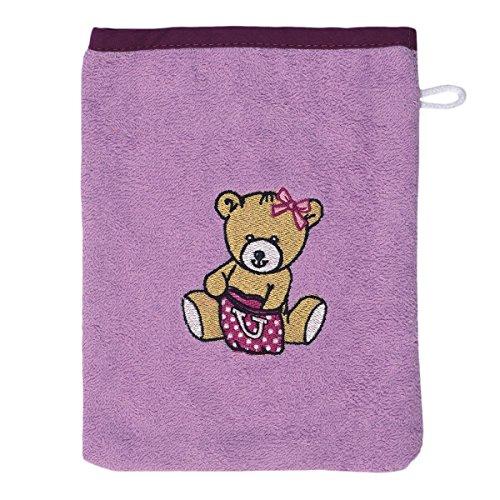 WÖRNER Le gant de toilette gant de toilette bébé, mauve