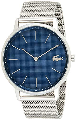 Lacoste Herren Analog Quarz Uhr mit Edelstahl Armband 2011005