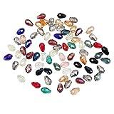 Cuentas Cristal Lagrima (225 Piezas) - 15 Colores Variados (15 Abalorios por Color) 12 x 8mm Abalorios de Cristal Facetado con Estuche de Plástico para Hacer Bisutería, Manualidades y Proyectos