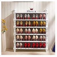 靴ラック6段靴ラック大型靴ラックオーガナイザー木製靴収納棚オーガナイザー玄関リビングルーム廊下靴キャビネット(色:白)