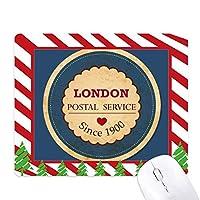 英国のロンドン英国イングランド愛スタンプ ゴムクリスマスキャンディマウスパッド