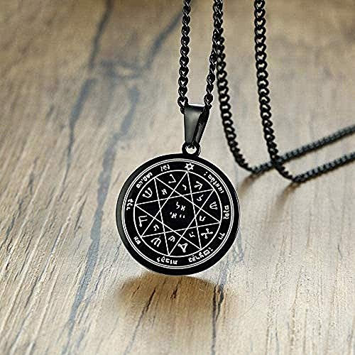 ZHIFUBA Co.,Ltd Necklace Fashion Pentacle Necklace Mercury Necklace Talisman Key of Solomon's Seal Hermetic Pendant Enochian Kabbalah Pagan Jewelry Necklace Gift