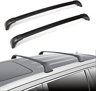 ECCPP Car Top Luggage Carrier Bar Black Fit for 2014 2015 2016 2017 2018 Toyota Highlander Sport Utility,Aluminum Roof Rack Cross Bars