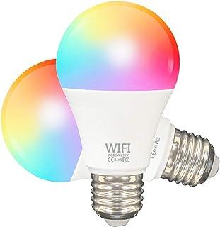 Limón Bombilla LED Inteligente WiFi Focos Inteligentes de Colores Lámpara Dimmable Luces inteligentes Smart Bulb 6500K 9W ...