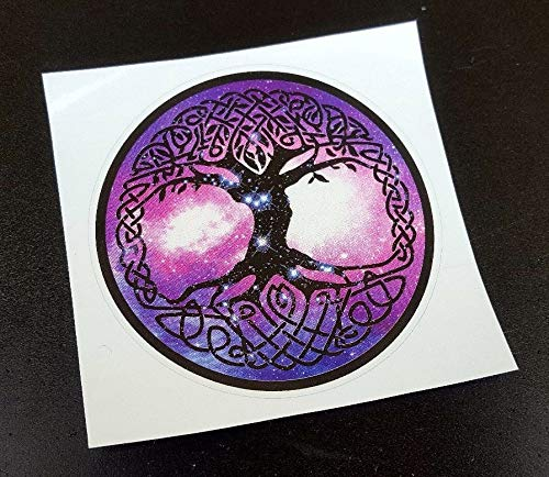 Viking Norse Pagan Celtic Wicca Yggdrasil Tree of Life Sticker (Diameter 3.5 inches)