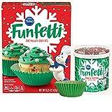 Pillsbury Funfetti Christmas Holiday Cupcake Mix Bundle (3 items) - Funfetti Cake Mix, Funfetti...