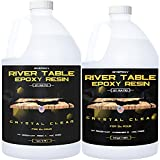 Epoxy Resin for River Table - 1.5 Gallon Kit - UV Resistant Crystal Clear Epoxy Resin Kit - 2:1 Ratio for Deep Pour, Deep Casting Resin, Live Edge River Table (1 Gallon + 0.5 Gallon)
