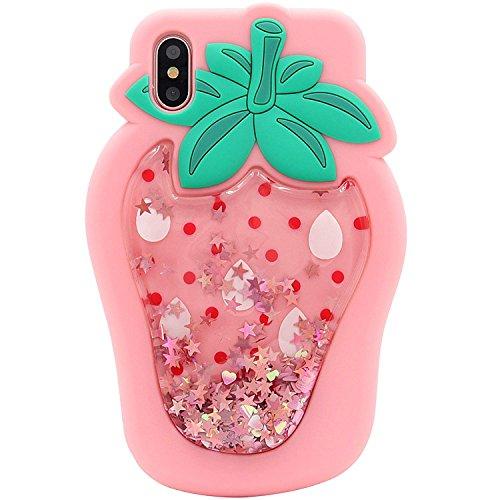 SevenPanda Glitter Flüssige Hülle für iPhone 11, iPhone 11 Bewegen 3D Weiches Silikon Ultra Dünne Schützende Nette Bling Glänzender Scherzt Frauen Teenager Mädchen - Rosa