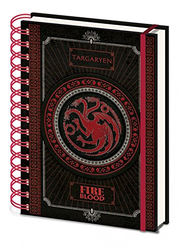 1art1 Game of Thrones - Targaryen Notizbuch Collegeblock Ringbuch 21 x 15 cm