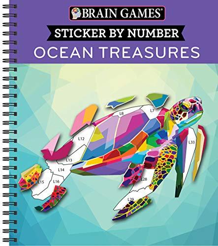 Brain Games - Sticker by Number: Ocean Treasures (Geometric Stickers)