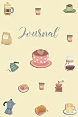 """Journal ~ Coffee Shop: 6""""X 9"""" College Ruled Journal Diary Notebook (☕ Cute and Fun 🌼) Paperback"""