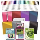 Cricut Machine Vinyl, Transfer Paper, Bulk Pen Set, Weeder Tool and Beginner Guide