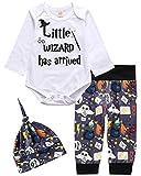 MOLYHUA Babykleidung Set Weihnachten Bodysuit Langarm Body Strampler + Hose Weihnachtsoutfit mit Hut, Mehrfarbig (B), 70 (0-6 Months)