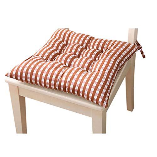 Anqeeso Lot de 1 Chaise d'intérieur Coussinets pour Kicthen Dinning Room Souple carré tufté Assise galettes de Chaise oreillers avec Liens