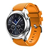 Apbands Banda de 22mm Compatible para Galaxy Watch 3 45mm/Galaxy Watch 46mm/Gear S3 Frontier/Classic/Ticwatch Pro 3/for Huawei Watch GT2 Pro/GT 2e/GT 46mm/GT2, Correa de Silicona Correa 22mm