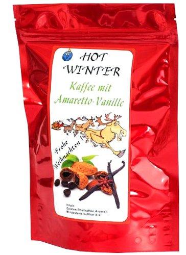 Aromatisierter Kaffee (Hot Winter Amaretto-Vanille,1000g) Ganze Bohne - als Weihnachtsgeschenk
