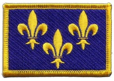 Aufnäher Patch Flagge Frankreich Île de France - 8 x 6 cm