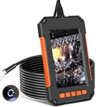 RUMIA Borescope Inspection Camera, 1080P HD Industrial Endoscope with 4.3 inch Screen Sewer Camera, IP67 Waterproof Flexible Snake Camera with 8 LED Light and 2600mAh for Home, Duct and Pipe - 16.5FT