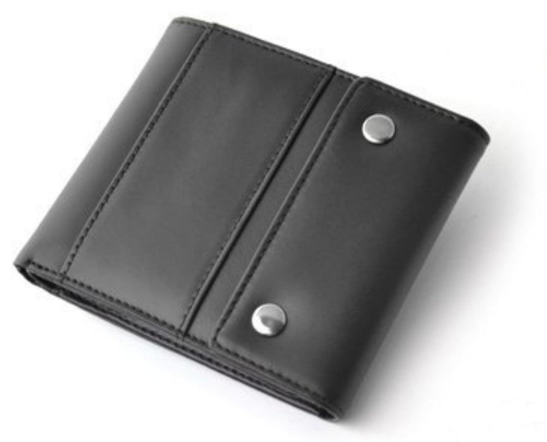 [Decoroso デコローゾ]  かっこいい大人のヴィンテージ調レザー短財布 (メンズ?紳士用?プレゼントCL-1664) (ブラック)