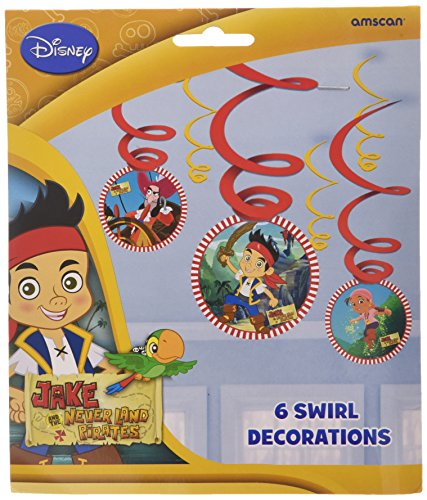 Disney Amscan Lot de 6 décorations Jake Swirl