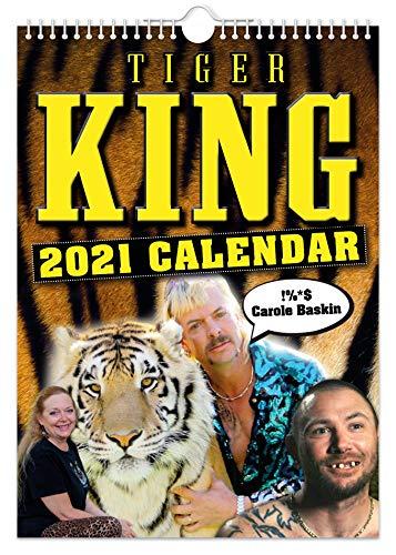 Tiger King Wandkalender 2021, witzig, witzig, Weihnachten, Geburtstag, Geschenkidee, Geschenk, Humor, Wichteln, Jahresplaner, Bürogeschenk