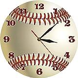 Reloj de pared Béisbol personalizado Nombre 3D Reloj de pared...