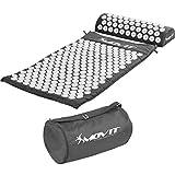 MOVIT set de acupresión »TUINA« esterilla + cojin (75x44x2.5cm) / esterilla para masajes y acupresi´n relajar y aliviar contracturas, probados para sustancias nocivas, cubierta 100% algodón, gris