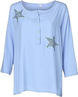 YIDEA-JP レディース Tシャツ 長袖 シンプル ボタン U ネック カットソー トップス ロンT ゆったり 春夏秋 ファッション カジュアル