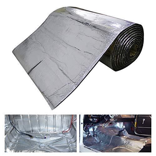HOMCHEK 10mm 21.53sqft 40inch x 80inch Automotive Heat Shield Mat Sound Deadener Mat Noise & Dampening Heat Insulation Mat Application for Car Hood Dynamat Ceiling Door
