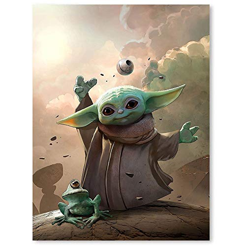 Cow Paintings Canvas Canvas Painting Yoda Baby Benjamin Carre Wall Art Canvas Picture Frame Posters 12x16inch