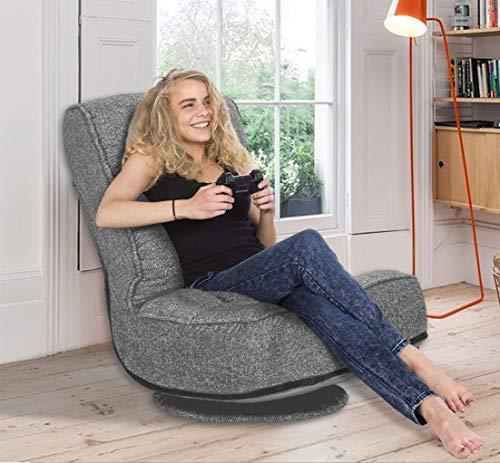 High Back Folding Floor Gaming Chair,360-Degree Swivel Floor Lazy Sofa Chair,High Back...