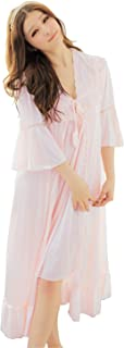 Nightgown Pyjamas Dress Victorian Satin Robe Set for Women and Girls
