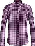 Tommy Jeans TJM Essential Gingham Shirt Camisa, Rosa Burbuja, M para Hombre