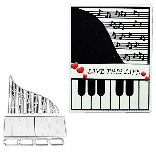 Lai-LYQ Stanzmaschine Stanzschablone, Klavier Scrapbooking Prägeschablonen Papier Handwerk Festival Dekor Geschenk Silver