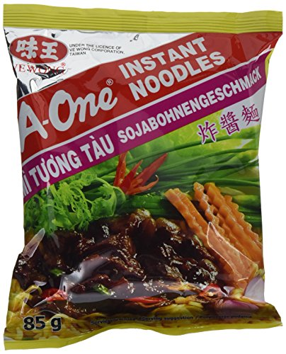A-ONE Instantnudeln, Sojabohne, 30er Pack (30 x 85 g Packung)