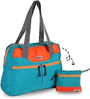 GOX Premium Foldable tote Bag, Duffel Bag For Travel, Multipurpose Daypack (Turquoise)