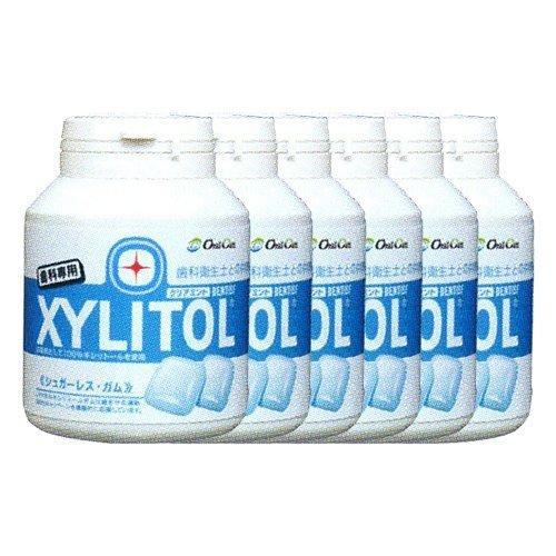 【オーラルケア】【歯科専用】キシリトールガム ボトルタイプ 90粒入り(153g)×6個 クリアミント