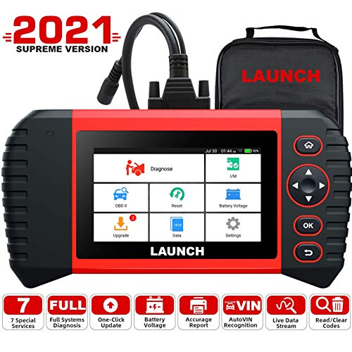 LAUNCH OBD2 Scanner -CRP Touch Pro Elite Code Reader with All System Diagnostic Scan Tool, 7 Reset Oil SAS EBP BMS Reset DPF ABS Bleeding Throttle Adaptation 7.0 Android Wi-Fi Update
