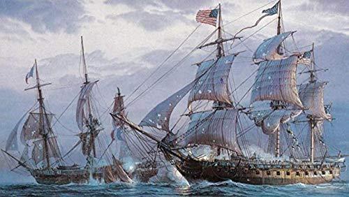 KELDOG® Houten puzzel voor volwassenen, 1000 stukjes - slagschip, zeeslag, grappige puzzels, voor tieners en volwassenen, zeer goed educatief puzzelspel