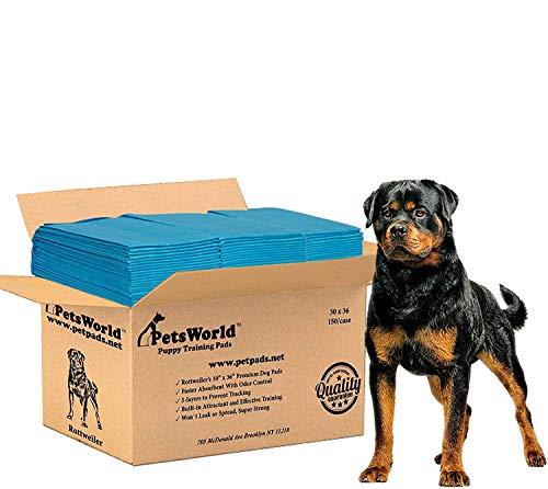 PETSWORLD Rottweiler's Supper Absorbent Giant Pads, 30x36 inch, 150 Ct