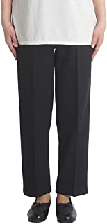 シニアファッション レディース パンツ スラックス ウエストゴム ゆったり 70代 80代 90代 高齢者 母の日 ギフト 裾上げ済み 日本製 夏 洗える 春 秋 S M L LL
